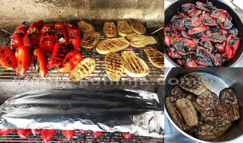 Pečenje paprike i patlidžana za ajvar
