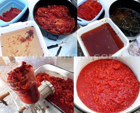 Čišćenje i mljevenje paprike za ajvar