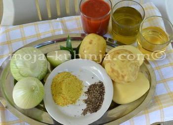 Povrće i začini za brudet