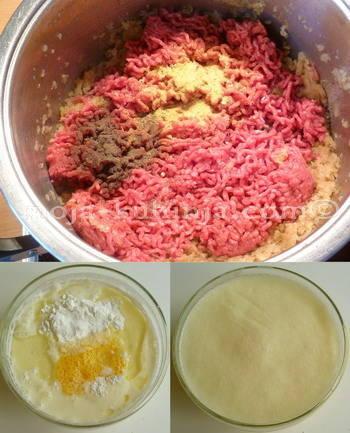 Priprema mesa i premaza za burek