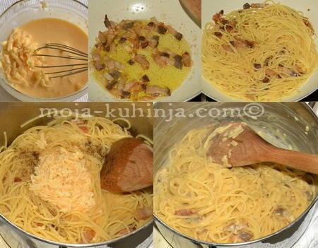 Priprema špageti carbonara