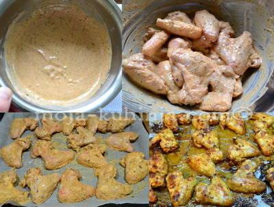 Priprema sa jogurtom mariniranih krilaca, chicken wings