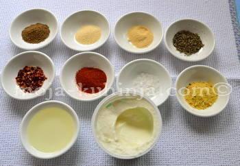 Začini za pečena krilca u marinadi od jogurta