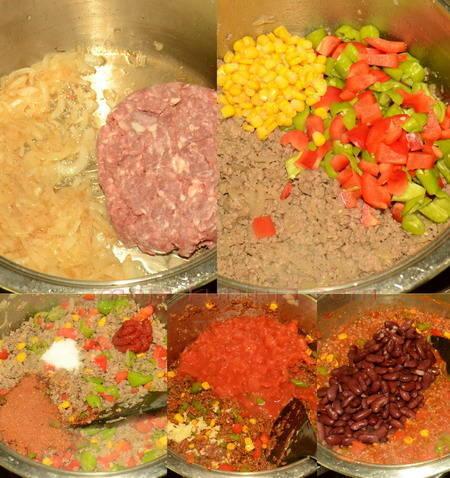 Priprema chili con carne