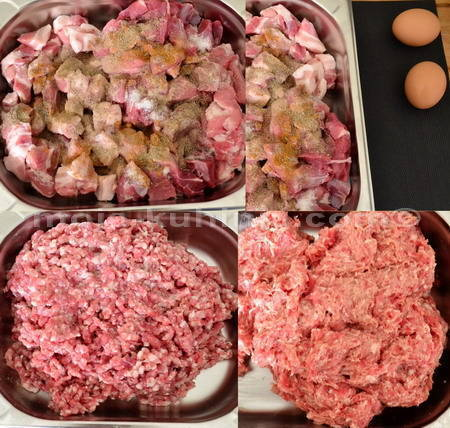 Priprema mesa za koburger pečenicu