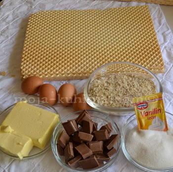 Oblatne, čokolada, jaja, šečer