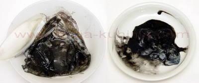 Crni mornarski rižoto od sipe odvajanje crnila