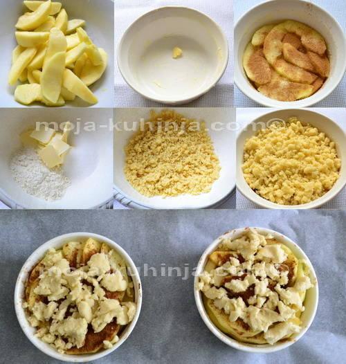 Priprema crumble od jabuka