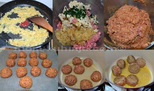 Priprema ćufti, mesnih okruglica