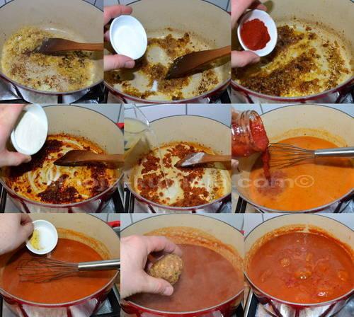 Priprema paradajz sosa za ćufte