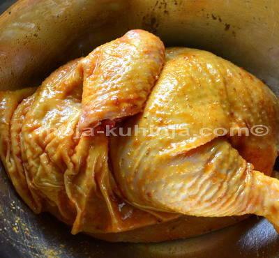 Piletina u dimljenoj slatko-ljutoj marinadi