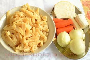 Fileki, tripice ili škembići i korjenasto povrće