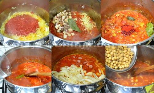 Priprema fileka sa špekom, slanutkom i kobasicama