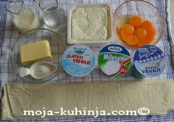 sastojci za gibanicu od sira
