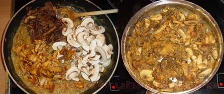 Gljive u senf umaku dinstanje