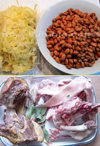 Smeđi grah, kiselo zelje i suho meso
