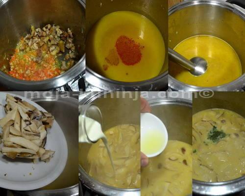 Priprema krem juhe od kestena sa vrganjima