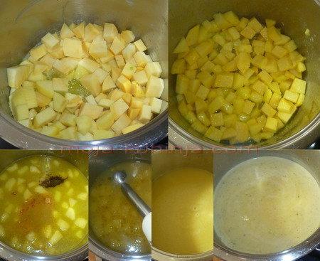 kuhanje guste juhe od podzemne korabe