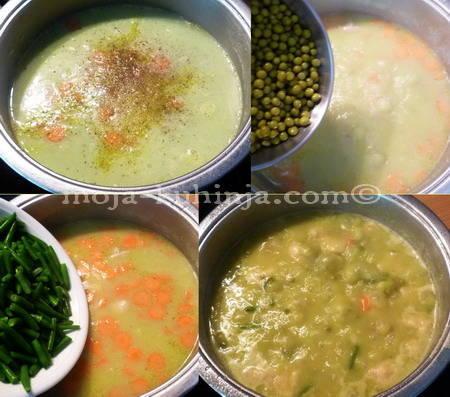 Priprema guste juhe od povrća, mesa i žličnjaka