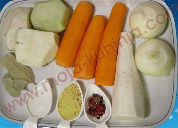 povrće i začini za hladetinu