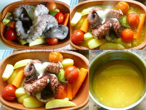 priprema za pečenje hobotnice s krumpirom