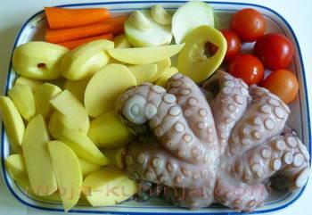 sastojci za hobotnicu s krumpirom