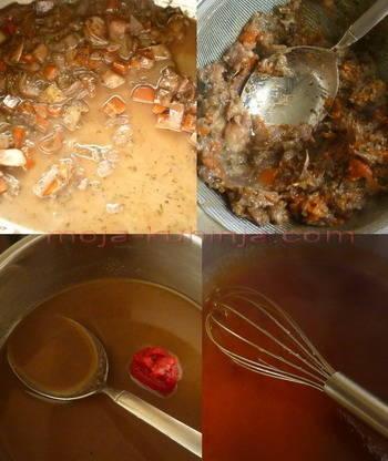 Priprema umaka od pirjanog povrća