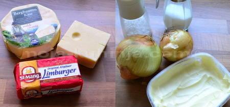 Limburger,gojer,ementaler,luk,maslac