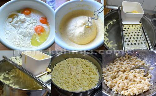 Priprema tijesta i kuhanje špecli