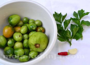 Ukiseljene zelene rajčice sastojci