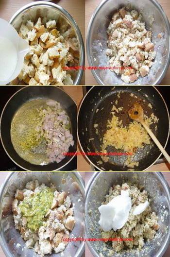 Semel knedle iz salvete priprema