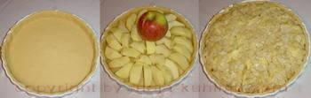 Kolač od jabuka priprema
