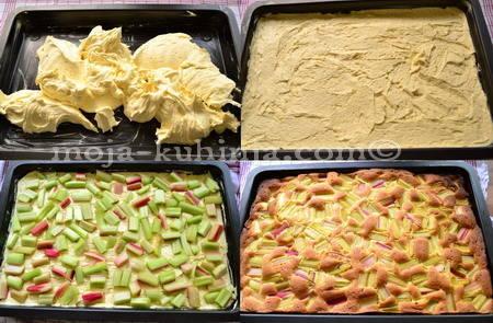 Priprema kolača od rabarbare