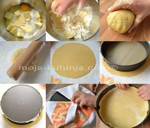 Priprema kora za kolač sa sirom, cheesecake