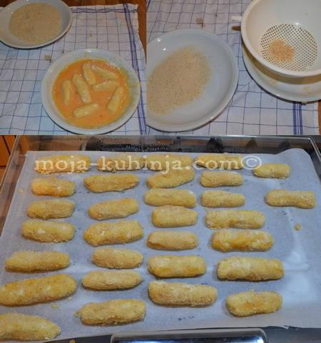 Paniranje kroketa od krumpira