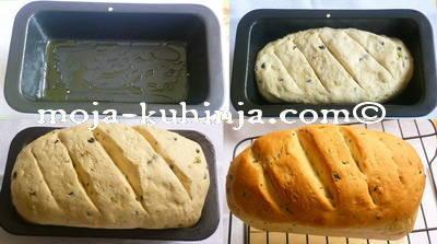 Pečenje kruha s maslinama
