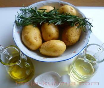 Krumpir, maslinovo ulje, ružmarin, gruba morska sol