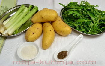 Krumpir, mladi luk, rukola, rikula
