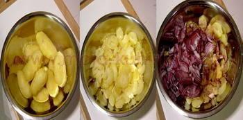 Krumpir salata sa bučinim uljem priprema