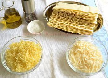 Lazanje, sir, maslinovo ulje, zaćini