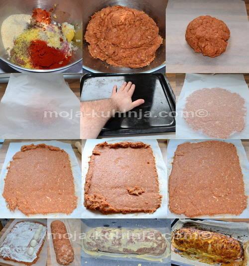 Priprema mesne štruce sa jajima