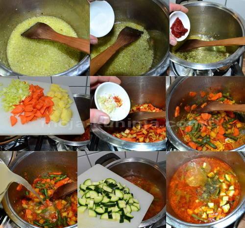 Priprema minestrone juhe