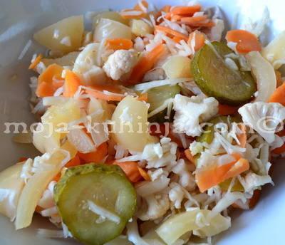 Ukiseljeno mješano povrće, turšija