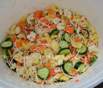 Ukiseljeno mješano povrće priprema