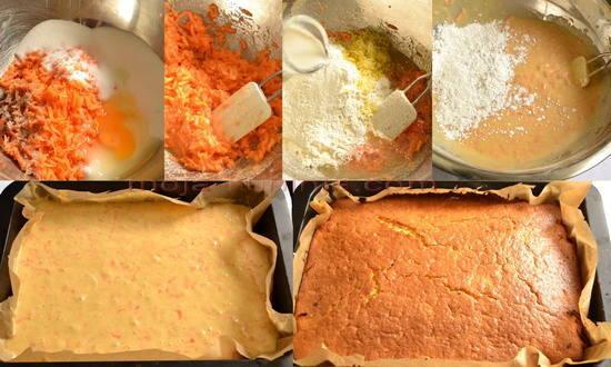 Priprema kolača od mrkve
