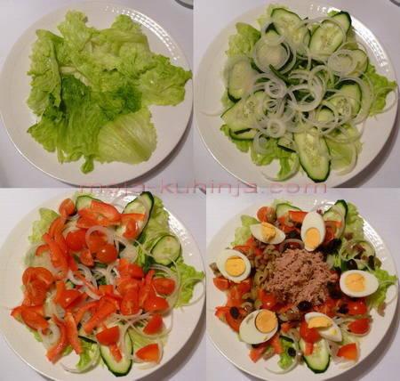 nica, nizza salata priprema