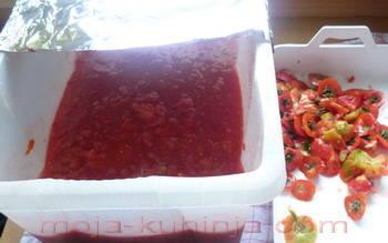 Drobljene rajčice paradajza, pomidora