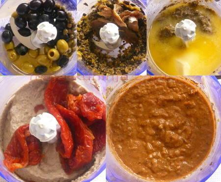 Priprema paštete od fileta slanih sardela, kapara, maslina