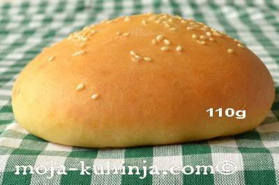 Hamburger pecivo 110 grama