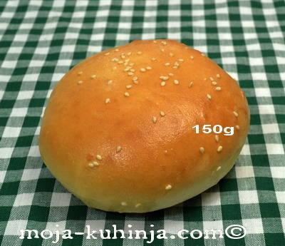 Hamburger pecivo 150 grama